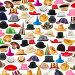 Many hats arranged as background, фото № 7116049, снято 25 марта 2015 г. (c) Elnur / Фотобанк Лори