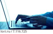 Купить «Женщина использует ноутбук и кредитную карту для покупок в сети», видеоролик № 7116725, снято 13 марта 2015 г. (c) Валерия Потапова / Фотобанк Лори