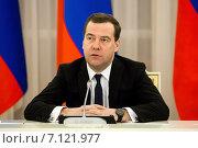 Купить «Председатель правительства РФ Дмитрий Медведев», эксклюзивное фото № 7121977, снято 25 февраля 2015 г. (c) Андрей Дегтярёв / Фотобанк Лори