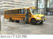 Школьный автобус (2014 год). Редакционное фото, фотограф Алексей Мальцев / Фотобанк Лори