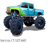 Мультяшный Monster Truck. Стоковая иллюстрация, иллюстратор Александр Володин / Фотобанк Лори