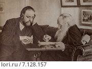 Лев Толстой в своем кабинете (2015 год). Стоковое фото, фотограф Галина Нагаева / Фотобанк Лори