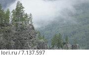 Таймлепс, гора Айгир. Проплывающие облака. Стоковое видео, видеограф R.I.Production / Фотобанк Лори