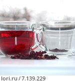 Чай с суданской розы. Стоковое фото, фотограф Юлия Москаленко / Фотобанк Лори