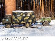 Купить «Военный полоноприводный автомобиль ГАЗ-66 с походной кухней», фото № 7144317, снято 8 февраля 2015 г. (c) Евгений Ткачёв / Фотобанк Лори