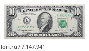 Купить «Десять долларов США», фото № 7147941, снято 25 июня 2018 г. (c) Некрасов Андрей / Фотобанк Лори