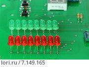 Купить «Электронная печатная плата с радиодеталями», эксклюзивное фото № 7149165, снято 20 марта 2015 г. (c) Юрий Морозов / Фотобанк Лори