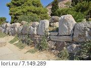 Афины. Акрополь, развалины храма (2013 год). Стоковое фото, фотограф Александр Гончаров / Фотобанк Лори