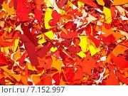 Купить «Фон, обрезки цветной бумаги», фото № 7152997, снято 8 февраля 2015 г. (c) Влад  Плотников / Фотобанк Лори