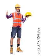 Купить «Young construction worker in helmet and briefs isolted on white», фото № 7154889, снято 12 ноября 2013 г. (c) Elnur / Фотобанк Лори