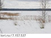 Купить «Озеро Валдай в марте», эксклюзивное фото № 7157537, снято 7 марта 2015 г. (c) stargal / Фотобанк Лори