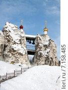 Купить «Пещерный Спасский храм Спасского женского епархиального монастыря зимой», фото № 7158485, снято 7 февраля 2015 г. (c) Минакова Татьяна / Фотобанк Лори