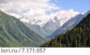 Архыз, горный пейзаж. Стоковое фото, фотограф Вячеслав Эрднеев / Фотобанк Лори