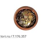 Горшок с деньгами, вид сверху. Стоковое фото, фотограф Ильгиз Хабибулин / Фотобанк Лори