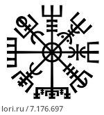 Купить «Магический компас викингов. Рунический талисман», иллюстрация № 7176697 (c) Одиссей / Фотобанк Лори