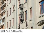 Купить «Дом с рыцарем (1912) Гусятников переулок, дом 11. Москва», фото № 7180009, снято 25 февраля 2015 г. (c) Pukhov K / Фотобанк Лори