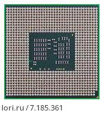 Купить «Современный микропроцессор, изолировано на белом фоне», фото № 7185361, снято 28 марта 2015 г. (c) Игорь Долгов / Фотобанк Лори