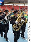 Купить «Полицейский духовой орестр», фото № 7187369, снято 19 октября 2013 г. (c) Free Wind / Фотобанк Лори