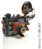Купить «Ретро-футуристическая модель фотоаппарата», фото № 7188397, снято 29 марта 2015 г. (c) Валерий Александрович / Фотобанк Лори