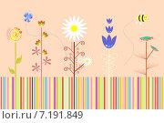 Оформление цветочная тематика. Стоковая иллюстрация, иллюстратор Попова Евгения / Фотобанк Лори