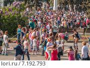 Купить «Народные гулянья на ВДНХ», эксклюзивное фото № 7192793, снято 18 мая 2014 г. (c) Алёшина Оксана / Фотобанк Лори