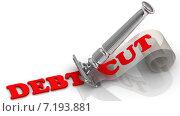 Купить «Сокращение долга (Debt cut). Концепция», иллюстрация № 7193881 (c) WalDeMarus / Фотобанк Лори