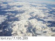 Альпы. Вид с 9000 м. Стоковое фото, фотограф Юрий Василенко / Фотобанк Лори