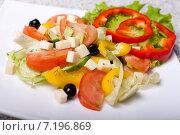 Овощной салат. Стоковое фото, фотограф Игорь Чекаев / Фотобанк Лори