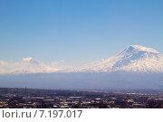 Купить «Гора Арарат», фото № 7197017, снято 21 марта 2014 г. (c) Emelinna / Фотобанк Лори