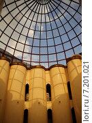 Купить «Чечня, Грозный. Купол центрального круглого зала Национального музея Чеченской Республики», эксклюзивное фото № 7201021, снято 21 августа 2013 г. (c) A Челмодеев / Фотобанк Лори