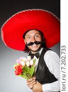 Купить «Mexican man wears sombrero isolated on white», фото № 7202733, снято 7 июня 2014 г. (c) Elnur / Фотобанк Лори