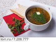 Суп с зеленью. Стоковое фото, фотограф Игорь Чекаев / Фотобанк Лори