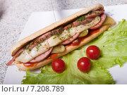 Гамбургер. Стоковое фото, фотограф Игорь Чекаев / Фотобанк Лори