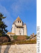 Средневековый донжон Башня Цезаря (XII в.) в городе Провен, Франция. Объект ЮНЕСКО (2015 год). Стоковое фото, фотограф Иван Марчук / Фотобанк Лори