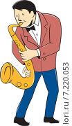 Купить «Музыкант играет на саксофоне», иллюстрация № 7220053 (c) Aloysius Patrimonio / Фотобанк Лори