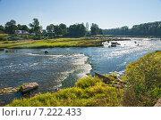 Водопад на реке Вента, самый широкий водопад в Европе. Общий вид (2014 год). Стоковое фото, фотограф Юлия Бабкина / Фотобанк Лори