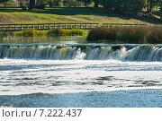 Ventas Rumba, водопад на реке Вента, Латвия (2014 год). Стоковое фото, фотограф Юлия Бабкина / Фотобанк Лори