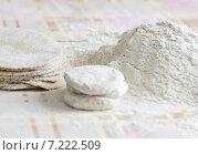 Купить «Ингредиенты для выпечки пирожков с картофелем», фото № 7222509, снято 9 февраля 2013 г. (c) Dorokhova Tatiana / Фотобанк Лори