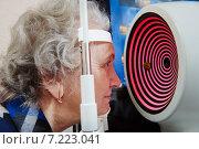 Купить «eyesight examinations at ophthalmology clinic», фото № 7223041, снято 5 марта 2015 г. (c) Дмитрий Калиновский / Фотобанк Лори