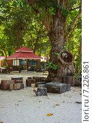 Купить «Место отдыха на острове Ко Симилан Симиланского архипелага. Таиланд», фото № 7226861, снято 27 февраля 2015 г. (c) Александр Романов / Фотобанк Лори