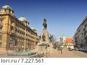 Купить «Grunwald Monument on Jan Matejko Square, Cracow Poland.Poland, Krakow, Jan Matejko Square, Grunwald Monument», фото № 7227561, снято 26 марта 2019 г. (c) BE&W Photo / Фотобанк Лори