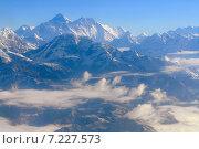 Купить «Nepal, Everest Himalaya, Wonderful aerial views in Nepal fly over to mountain Everest Himalaya», фото № 7227573, снято 6 августа 2020 г. (c) BE&W Photo / Фотобанк Лори