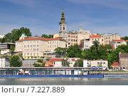 Купить «View of Belgrade city from Danube river», фото № 7227889, снято 18 июля 2019 г. (c) BE&W Photo / Фотобанк Лори