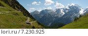 Купить «Пассо Стельвио, Италия», фото № 7230925, снято 2 июля 2013 г. (c) Сергей Драцкий / Фотобанк Лори