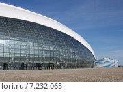 """Купить «Ледовый дворец """"Большой"""", Олимпийский парк, Сочи», фото № 7232065, снято 3 апреля 2015 г. (c) Юлия Ухина / Фотобанк Лори"""