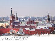 Купить «Московские крыши в солнечный день», фото № 7234817, снято 4 апреля 2015 г. (c) Наталья Волкова / Фотобанк Лори
