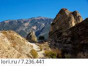 Скалы. Стоковое фото, фотограф Максим Сиротинин / Фотобанк Лори