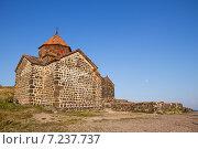 Купить «Древний монастырь Севанаванк на полуострове ,Армения», фото № 7237737, снято 8 августа 2014 г. (c) Emelinna / Фотобанк Лори