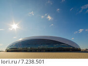 Ледовый дворец в Сочи (2014 год). Стоковое фото, фотограф Руслан Нунаев / Фотобанк Лори