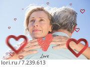 Купить «Composite image of cute valentines couple», фото № 7239613, снято 11 декабря 2019 г. (c) Wavebreak Media / Фотобанк Лори